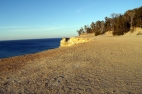 Cliff at Sunset - Pictured Rocks National Seashore