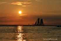Boat at Sunset - Key West